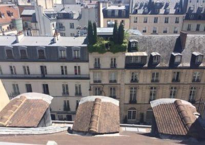 Photo prise d'un toit de Paris du 5ème arrondissement prise par un ramoneur de la parisienne de ramonage